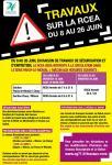 Travaux sur la RCEA du 8 au 26 juin 2015 en Saône-et-Loire...