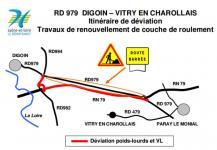 RD 979 – Communes de Digoin et Vitry-en-Charollais (Saône-et-Loire)