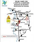 RD 982 – Communes de Saint-Yan et L'Hôpital-le-Mercier