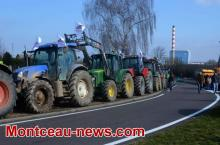Réactualisé à 17 h 30 - Manifestation d'agriculteurs sur la RCEA.. (VOIR NOTRE VIDEO