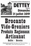 Brocante – vide-greniers – produits régionaux et artisanat à Dettey (Sortir)