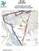 Travaux en vue en Charolais Brionnais - RD994 – Commune de Gueugnon: