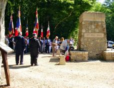 Cérémonie d'hommage aux 7 maquisards du Camp des Loups à Collonge-en-Charollais
