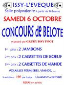 Concours de belote à Issy-L'Eveque