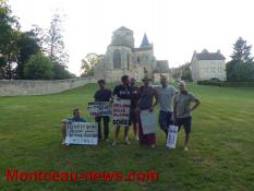 Un groupe de marcheurs pose ses tentes à Perrecy les Forges mais...