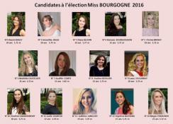 Candidates sélectionnées pour Miss Bourgogne 2016