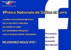 Rejoignez la police nationale de Saône et Loire sur Facebook !