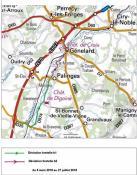 Travaux de mise à 2x2 voies de la RN70 à Palinges