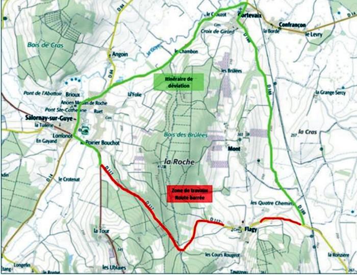 CD71 – RD117 – Communes de Salornay-sur-Guye, Flagy et Massilly
